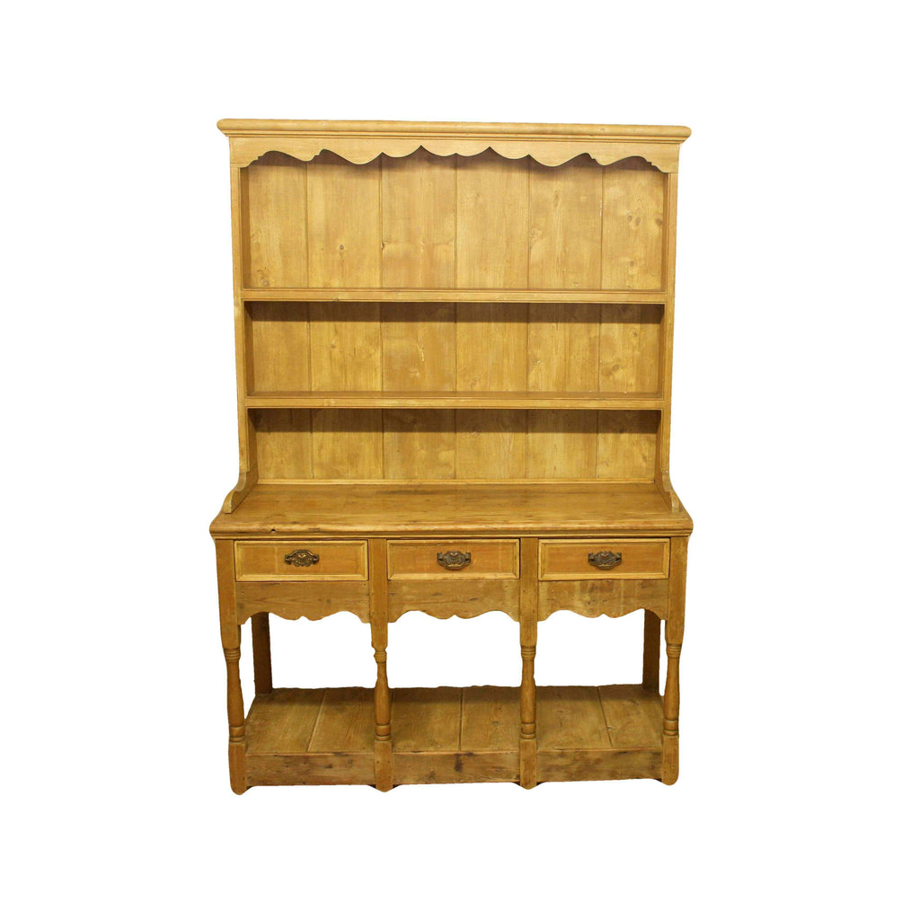Country Style Pine Sideboard with Open Rack Dresser Top-Origin Antiques
