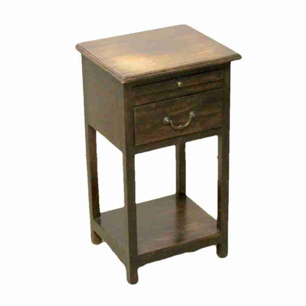 Dark Wood Bedside Table Night Stand-Origin Antiques
