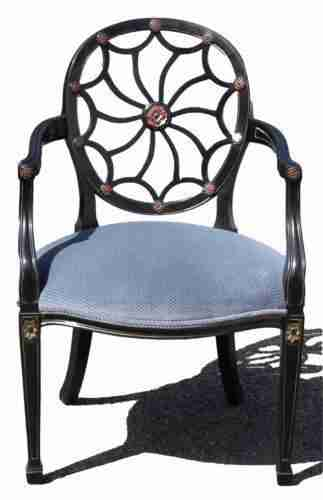 Decorative Upholstered Arm Chair-Origin Antiques