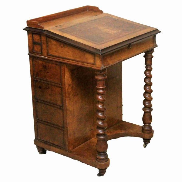 Early Victorian Walnut Davenport Desk-Origin Antiques