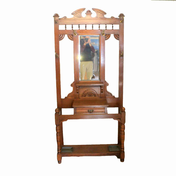 Edwardian Antique Mahogany Hall Stand-Origin Antiques