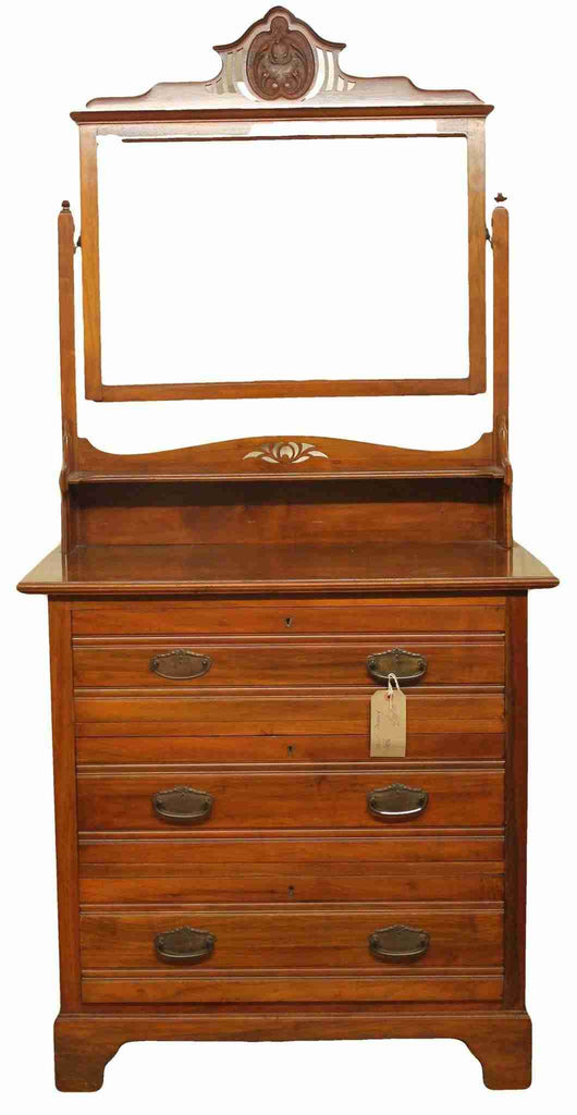 Edwardian Antique Walnut Chest of Drawers-Origin Antiques