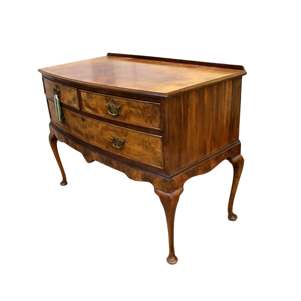 Edwardian Burr Walnut Dressing Table-Origin Antiques