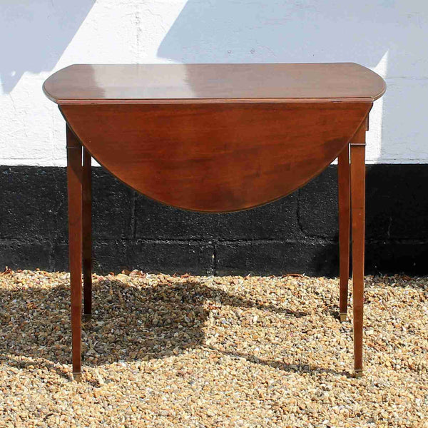 George III Antique Mahogany Drop Leaf Pembroke Table-Origin Antiques
