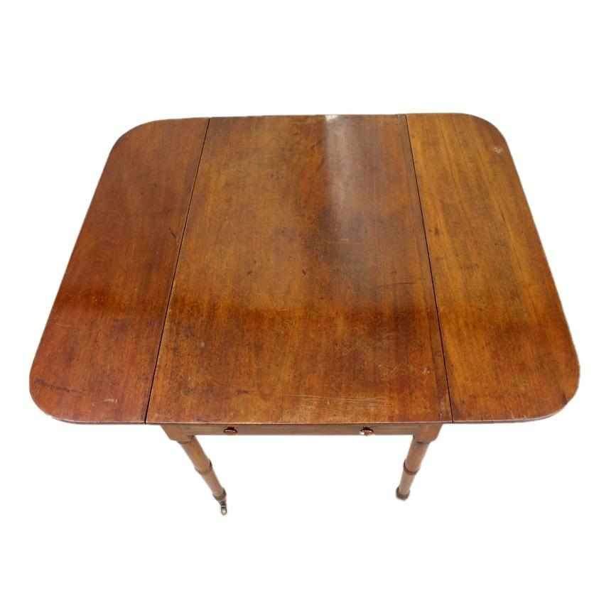 George IV Antique Mahogany Drop Leaf Pembroke Table-Origin Antiques
