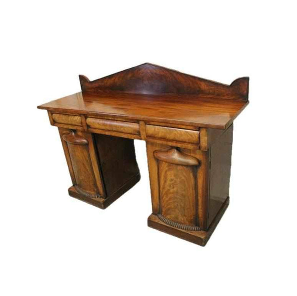 George IV Antique Mahogany Pedestal Sideboard-Origin Antiques