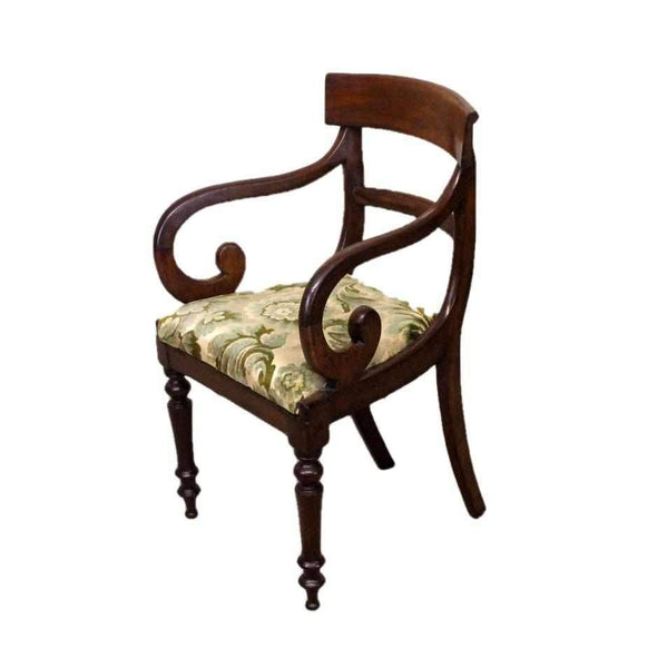 Georgian Antique Mahogany Armchair-Origin Antiques
