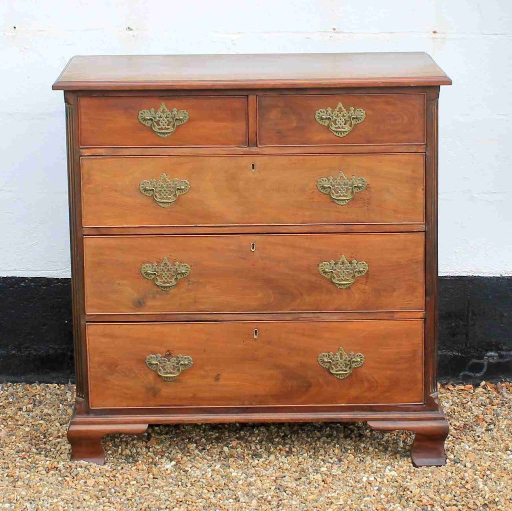 Georgian Antique Mahogany Chest of Drawers-Origin Antiques