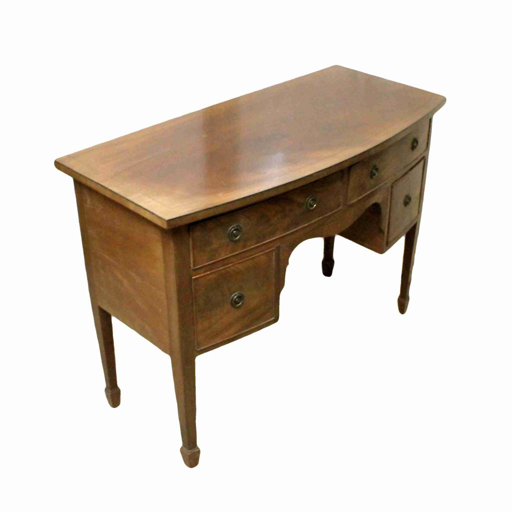 Georgian Style Bow Front Writing Desk-Origin Antiques