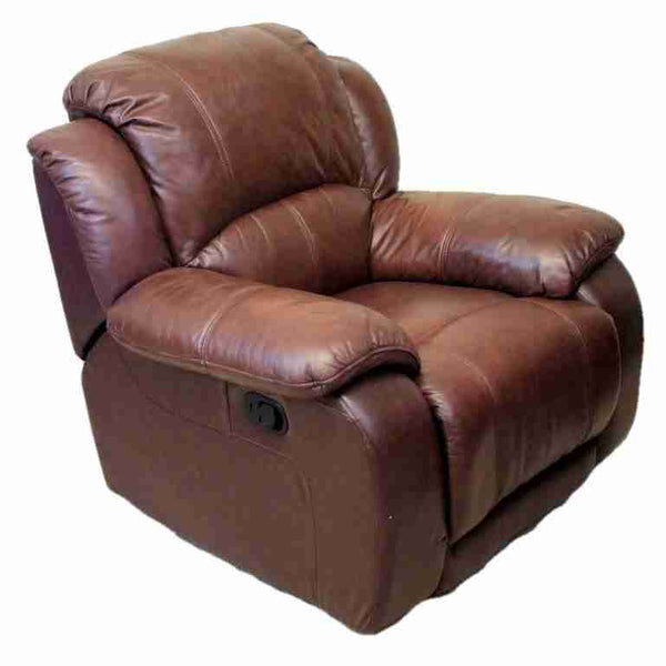 'Harveys' Contemporary Brown Leather Reclining Armchair-Origin Antiques