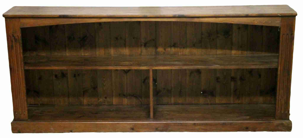 Low and Wide Pine Bookcase-Origin Antiques