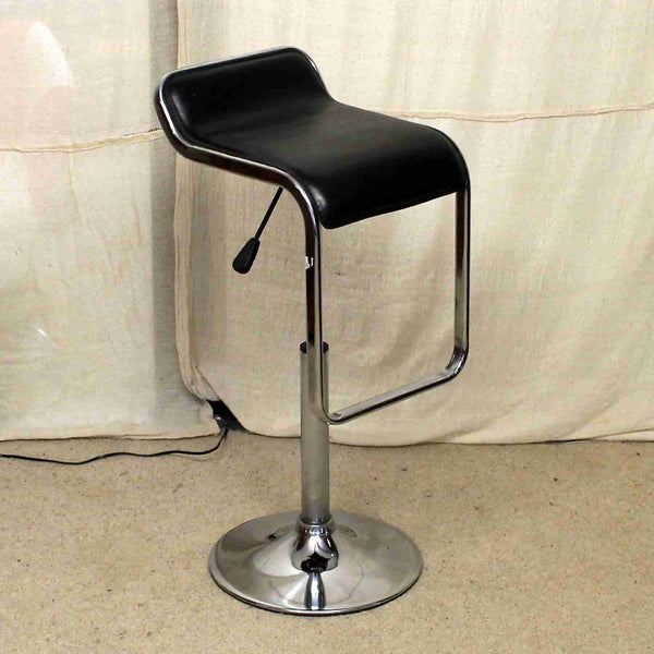 Modern Chrome and Leather Bar Stool-Origin Antiques