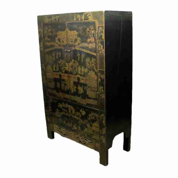 Oriental Chinese Antique Two Door Cabinet-Origin Antiques