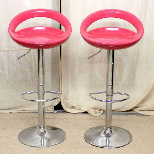 Pair of Pink Bar Stools-Origin Antiques