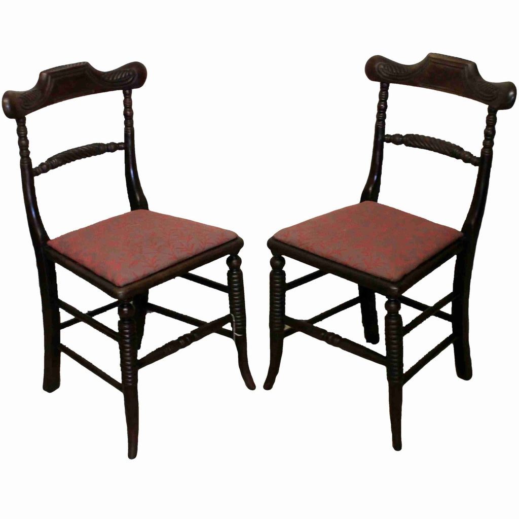 Pair of Regency Antique Rosewood Dining Chairs-Origin Antiques