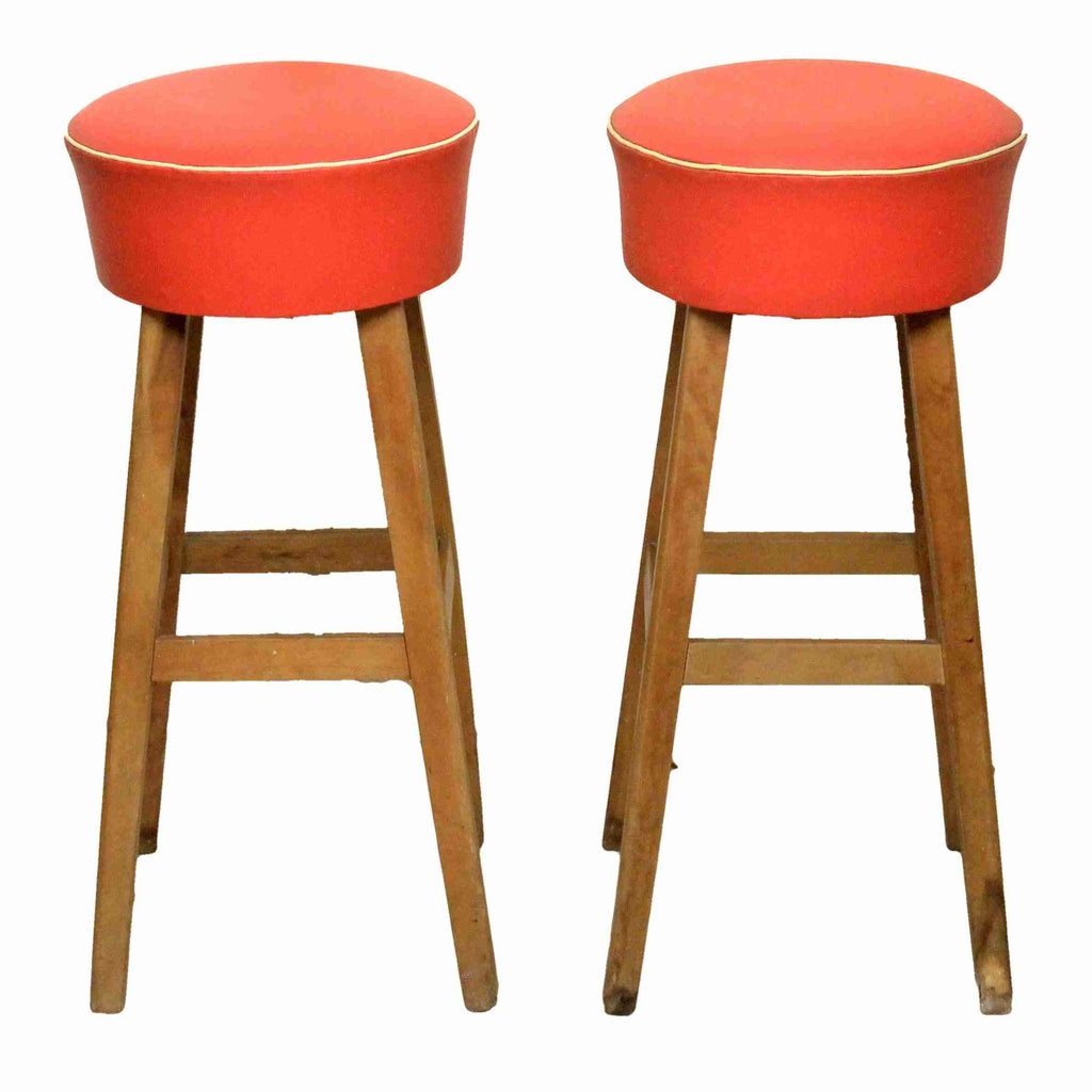Pair of Retro Bar Stools-Origin Antiques