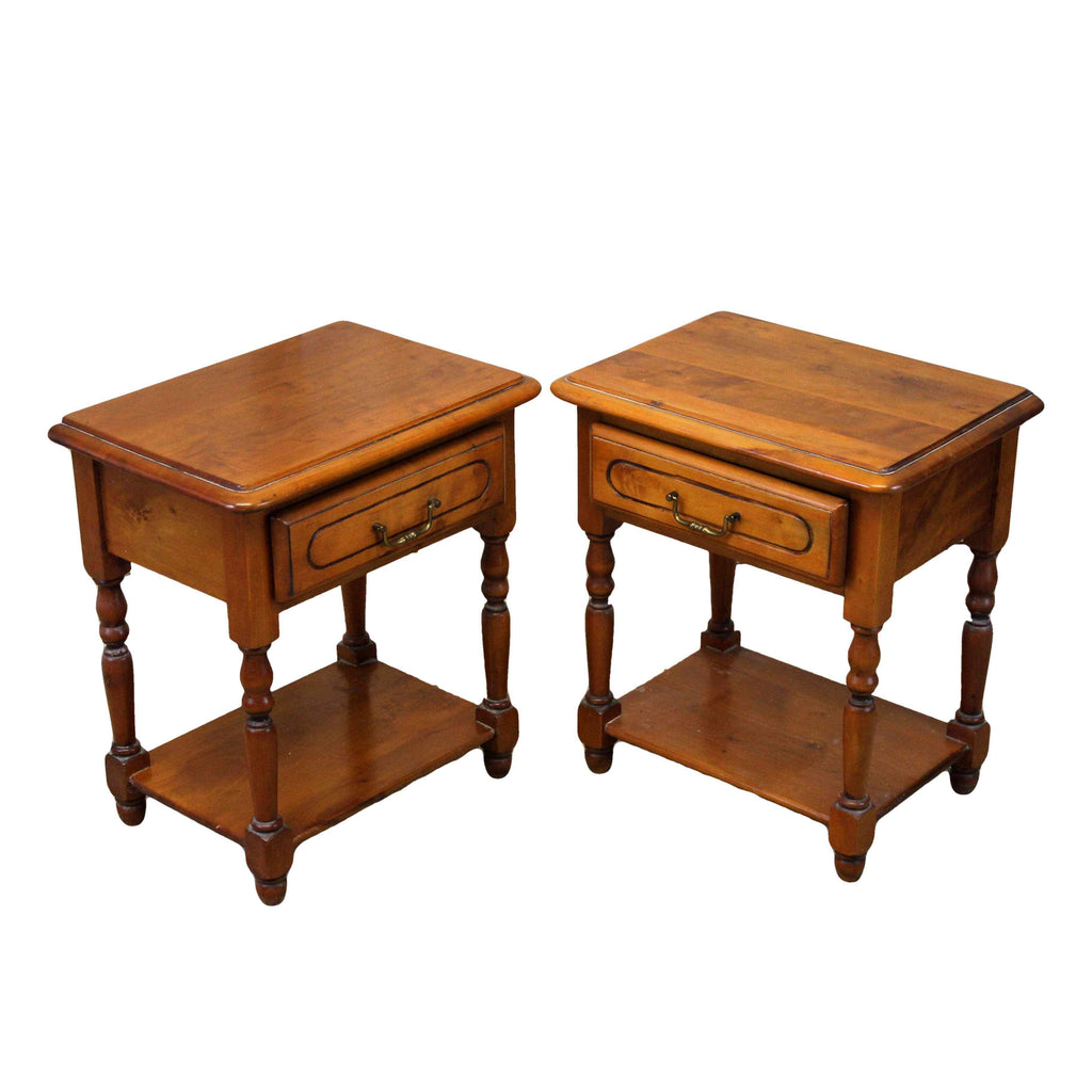 Pair of Traditional Style Bedside Cabinets-Origin Antiques