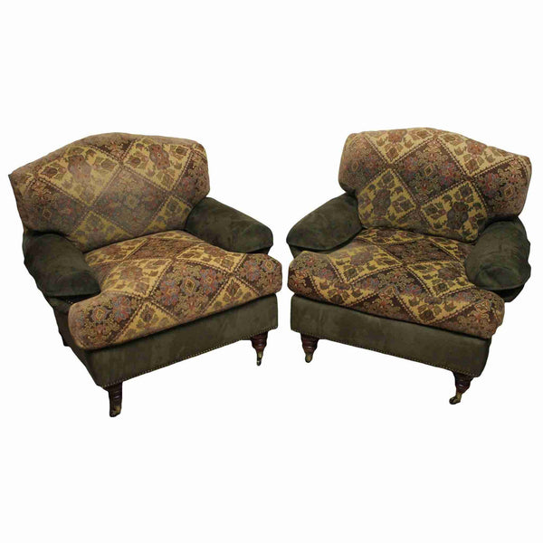 Pair of Upholstered Armchairs-Origin Antiques