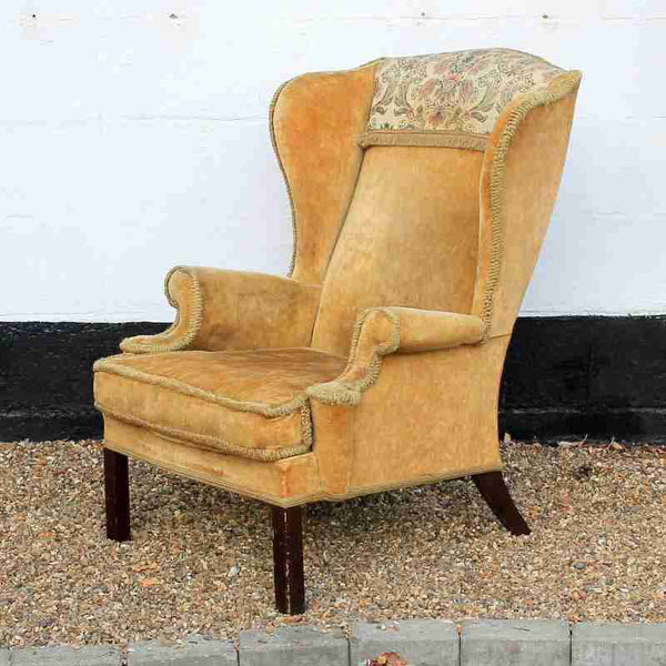 Parker Knoll Wing Back Upholstered Armchair-Origin Antiques