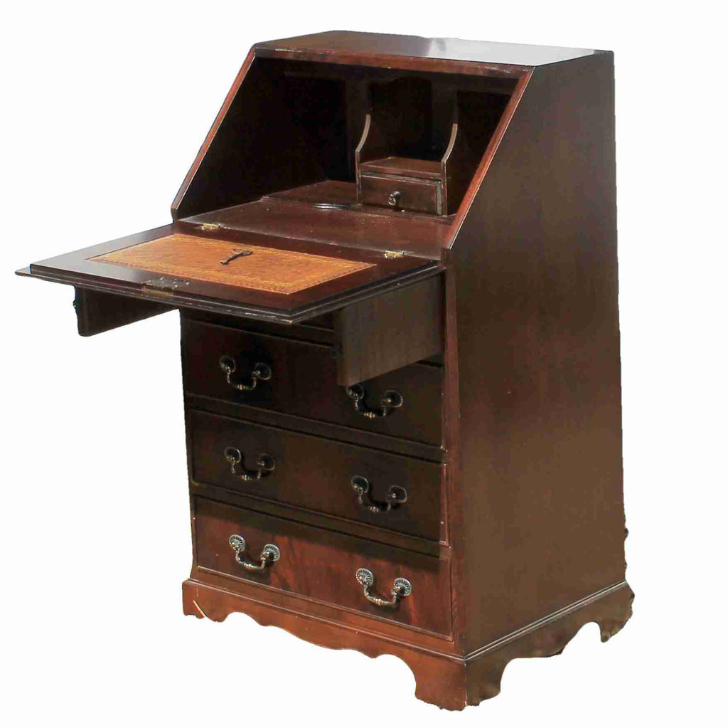 Reproduction Antique Mahogany Bureau-Origin Antiques