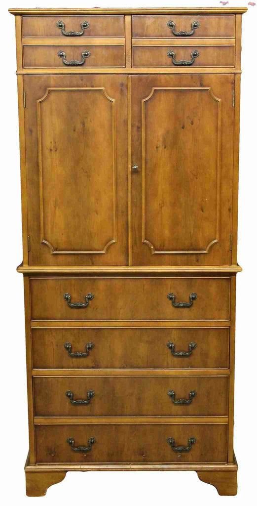Reproduction Antique Mahogany Tall Boy Cabinet-Origin Antiques