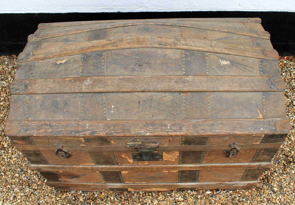 Retro Vintage Dome Top Trunk-Origin Antiques