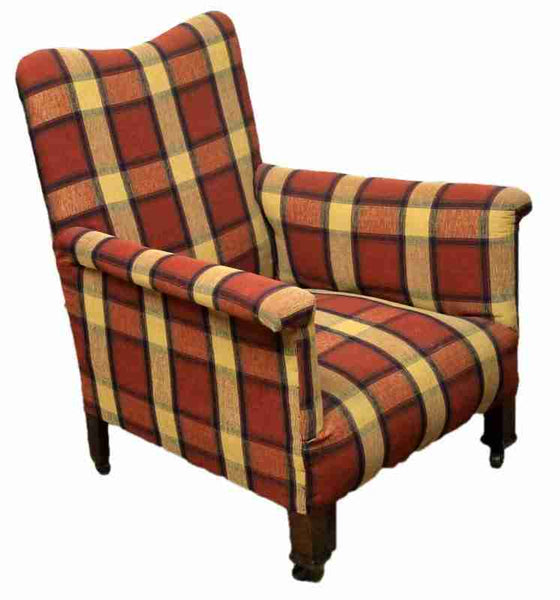 Retro Vintage Style Upholstered Armchair-Origin Antiques