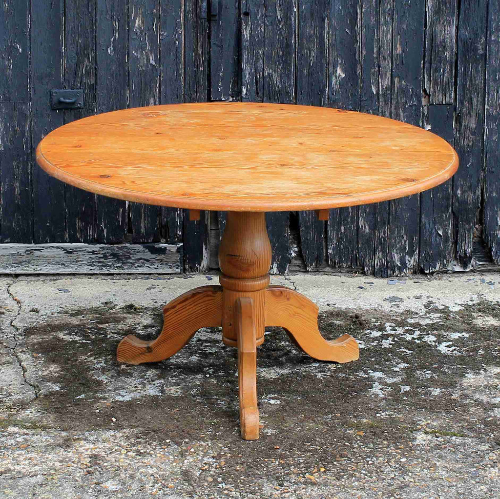Round Pine Farmhouse Dining Table-Origin Antiques