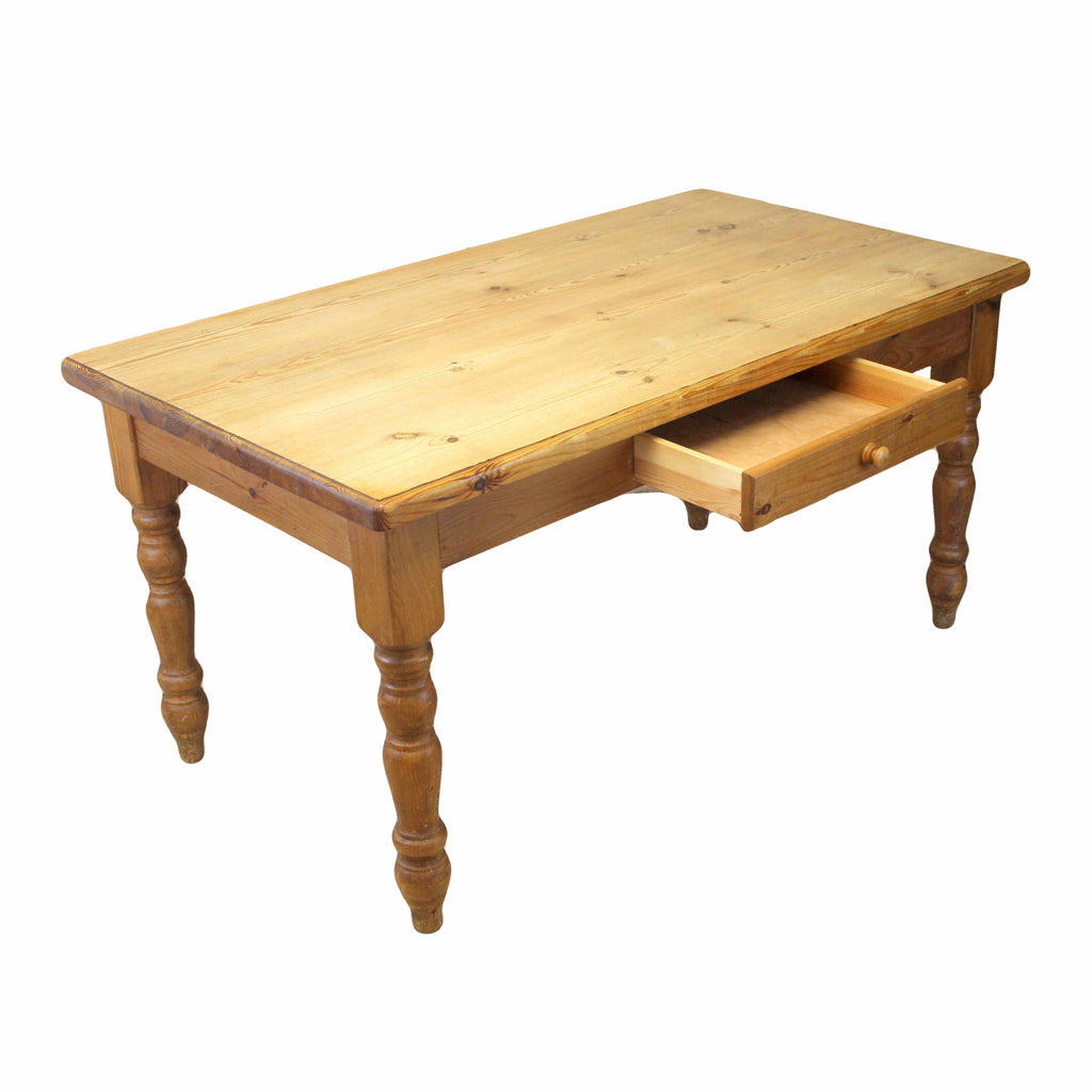Rustic Country Style Pine Farmhouse Kitchen Dining Table-Origin Antiques