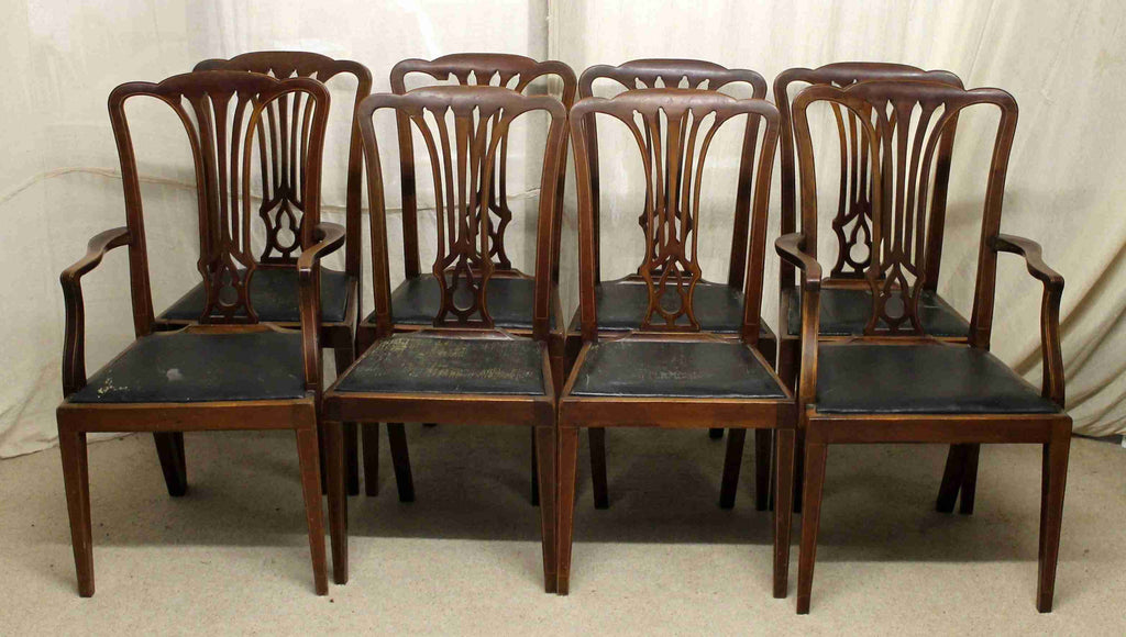 Set of Eight Edwardian Antique Dining Chairs-Origin Antiques