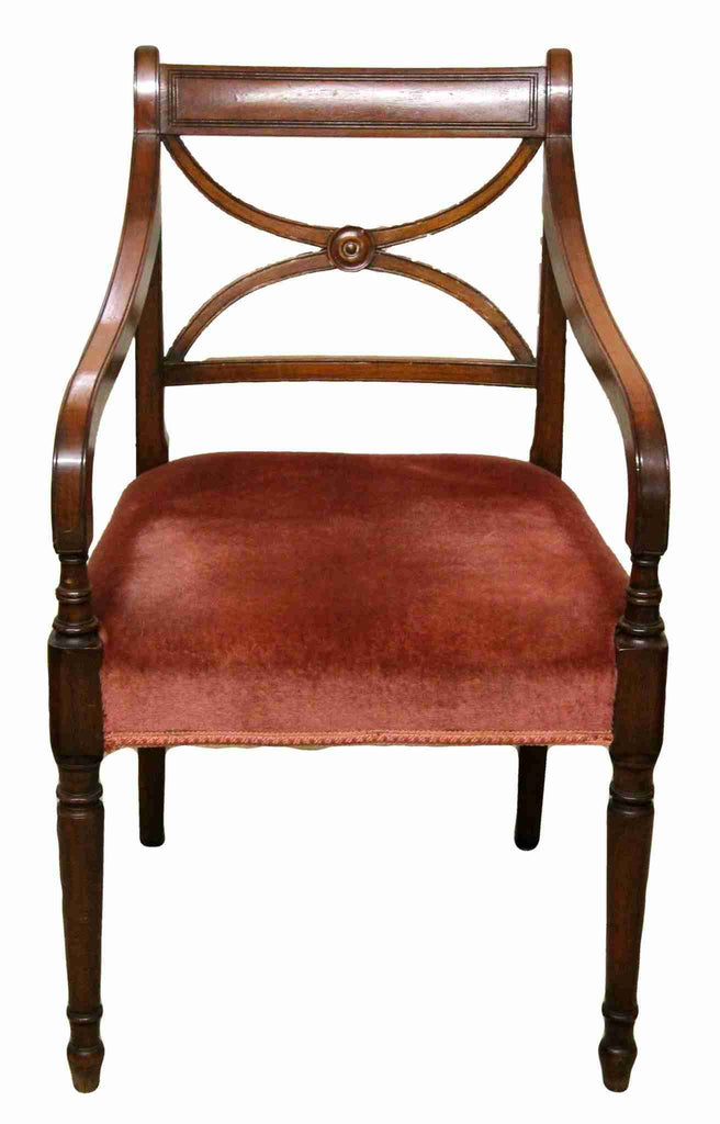 Set of Eight Regency Antique Style Dining Chairs-Origin Antiques