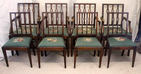 Set of Eight Victorian Antique Mahogany Dining Chairs-Origin Antiques