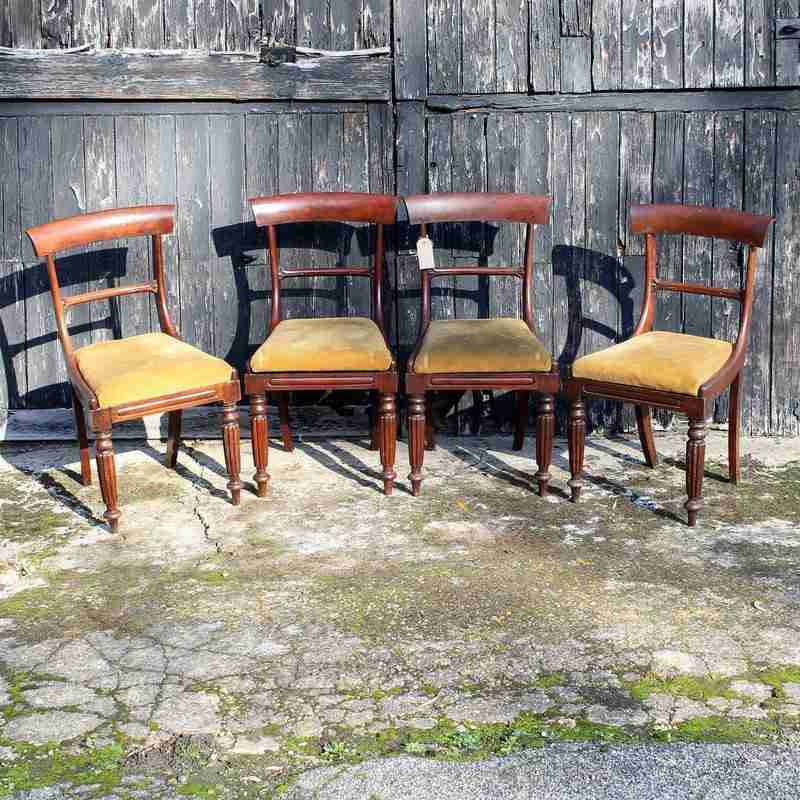 Set of Four Antique Victorian Mahogany Dining Chairs-Origin Antiques