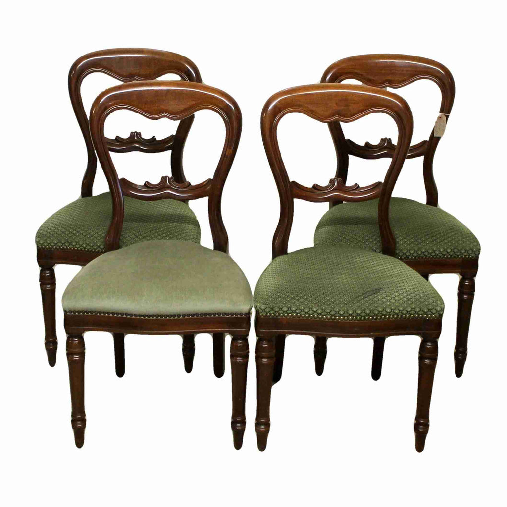 Set of Four Balloon Back Dining Chairs-Origin Antiques