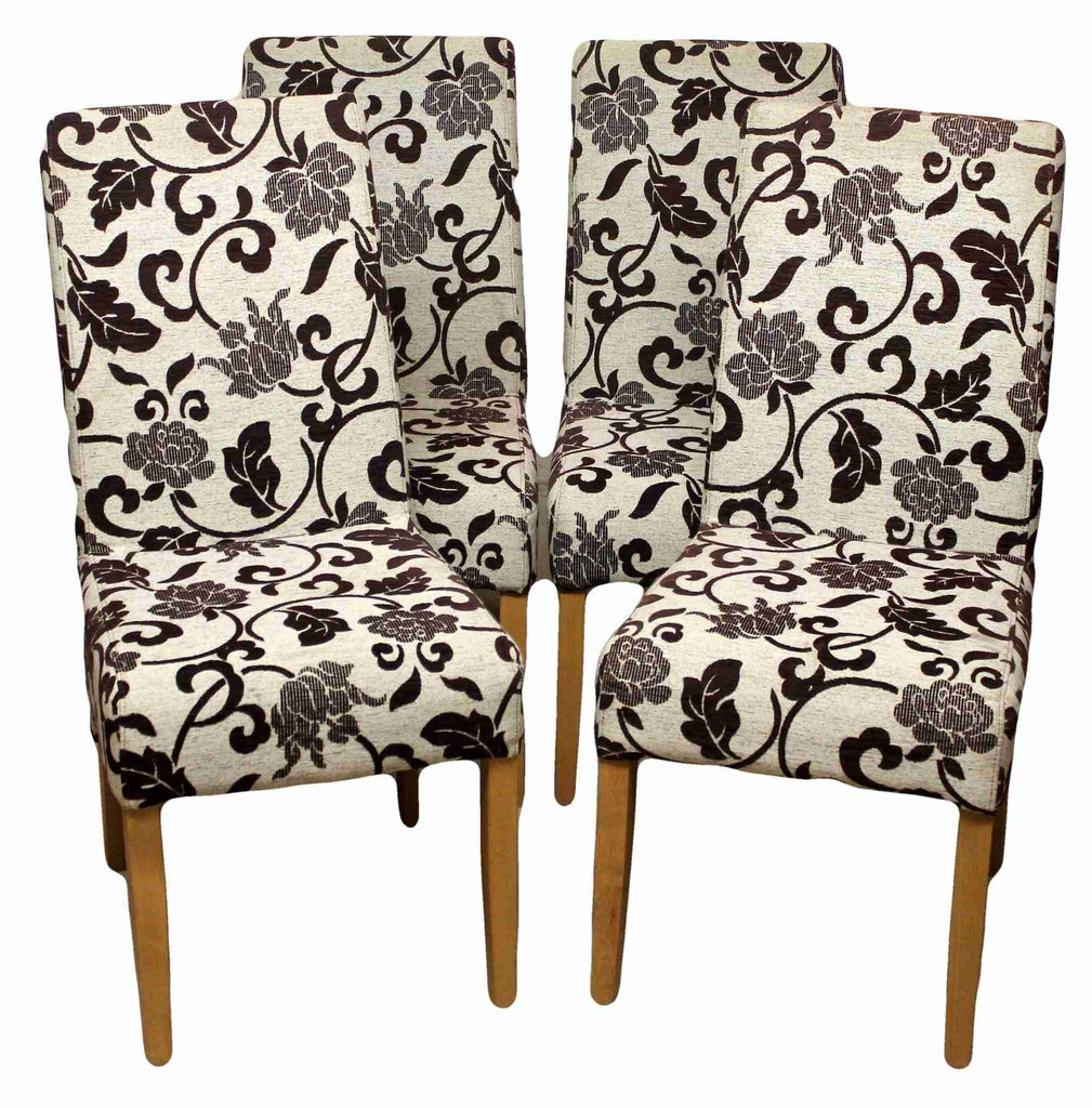 Set of Four Contemporary Upholstered Dining Chairs-Origin Antiques