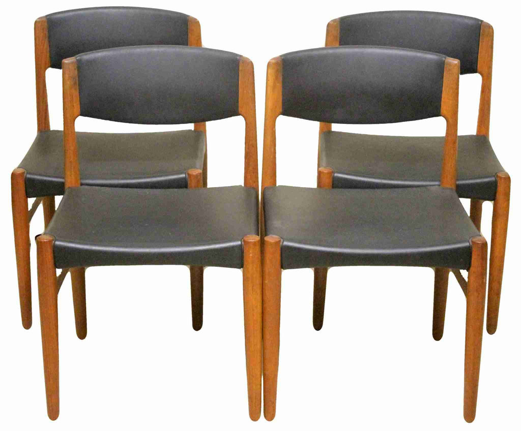 Set of Four Glostrup Mobelfabrik Mid Century Modern Dining Chairs-Origin Antiques
