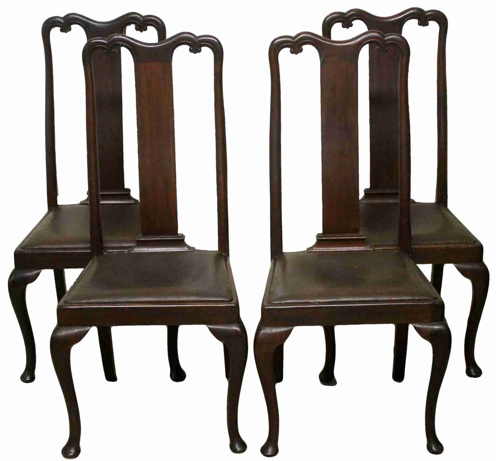 Set of Four Queen Anne Style Dining Chairs-Origin Antiques