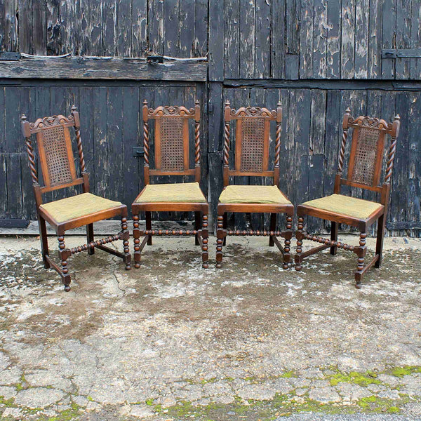 Set of Four Victorian Antique Dining Chairs-Origin Antiques