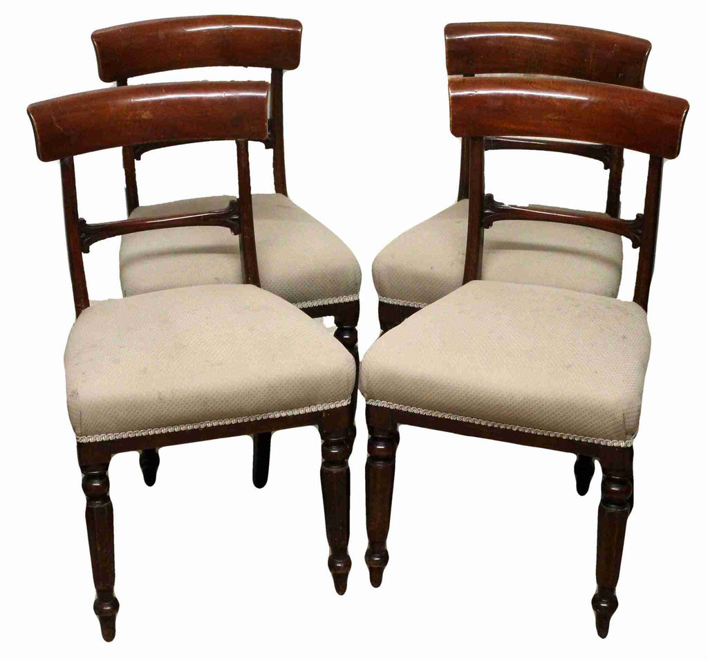 Set of Four Victorian Antique Mahogany Dining Chairs-Origin Antiques