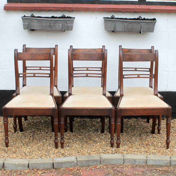 Set of Six Georgian Antique Dining Chairs-Origin Antiques