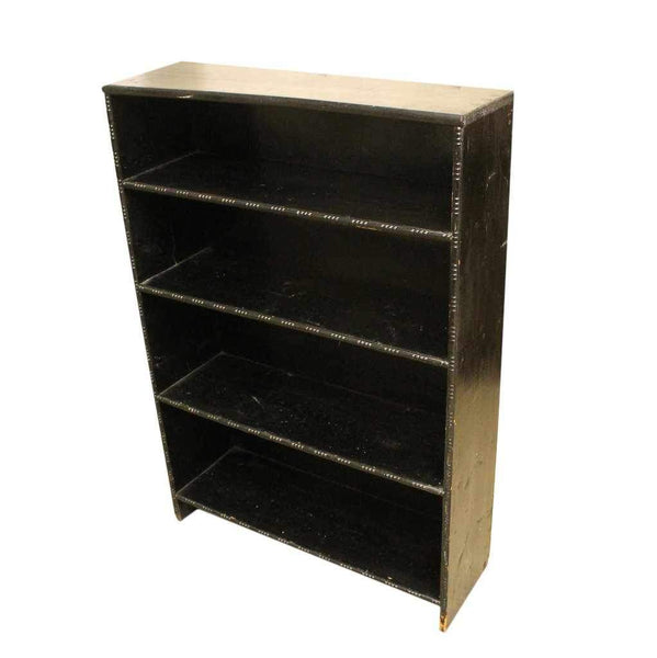 Small Vintage Black Painted Bookcase-Origin Antiques