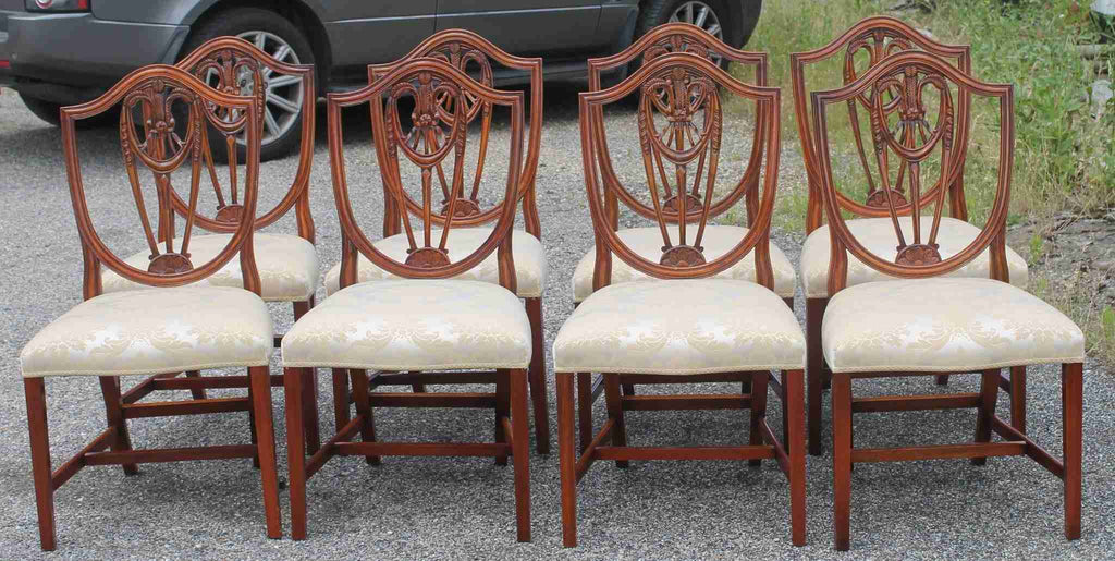 Twelve Bevan & Funnell 'Reprodux' Shield Back Dining Chairs-Origin Antiques