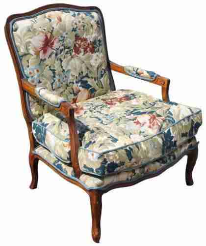 Upholstered Armchair-Origin Antiques