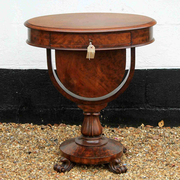 Victorian Antique Mahogany Art Deco Work Table-Origin Antiques