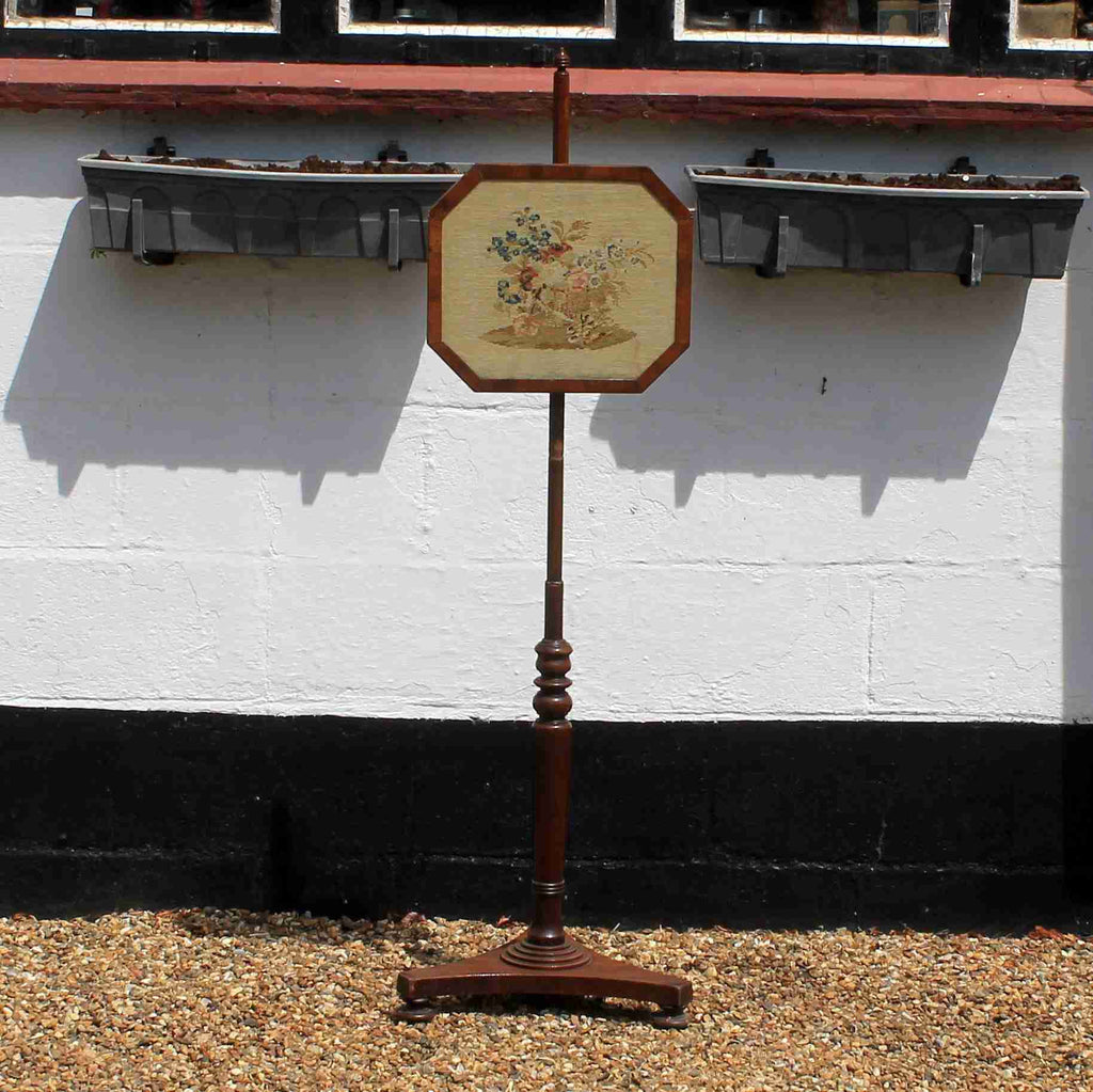 Victorian Antique Mahogany Fire Screen-Origin Antiques
