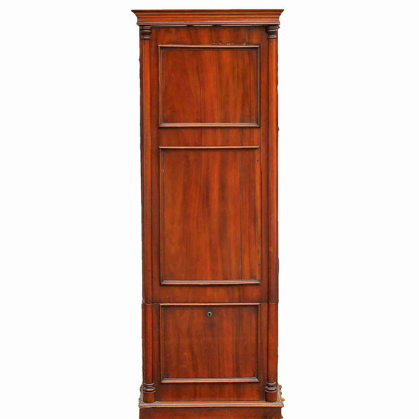 Victorian Antique Mahogany Narrow Cupboard-Origin Antiques
