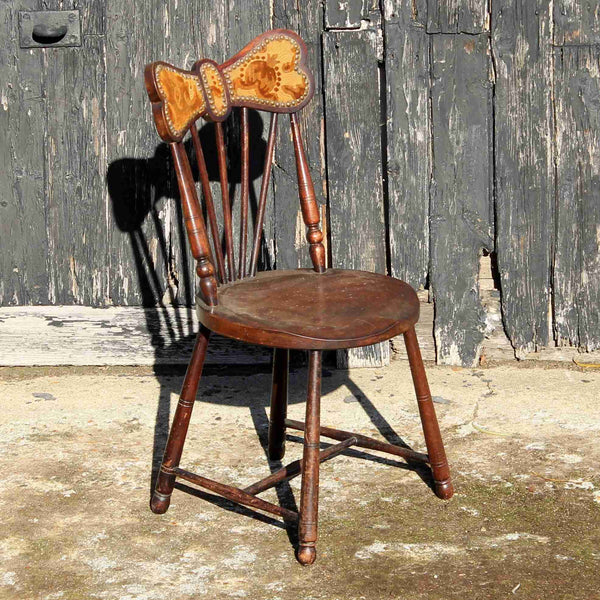 Victorian Antique Mahogany Small Occasional Chair-Origin Antiques