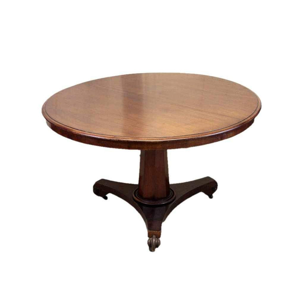 Victorian Antique Mahogany Tilt Top Breakfast Table-Origin Antiques