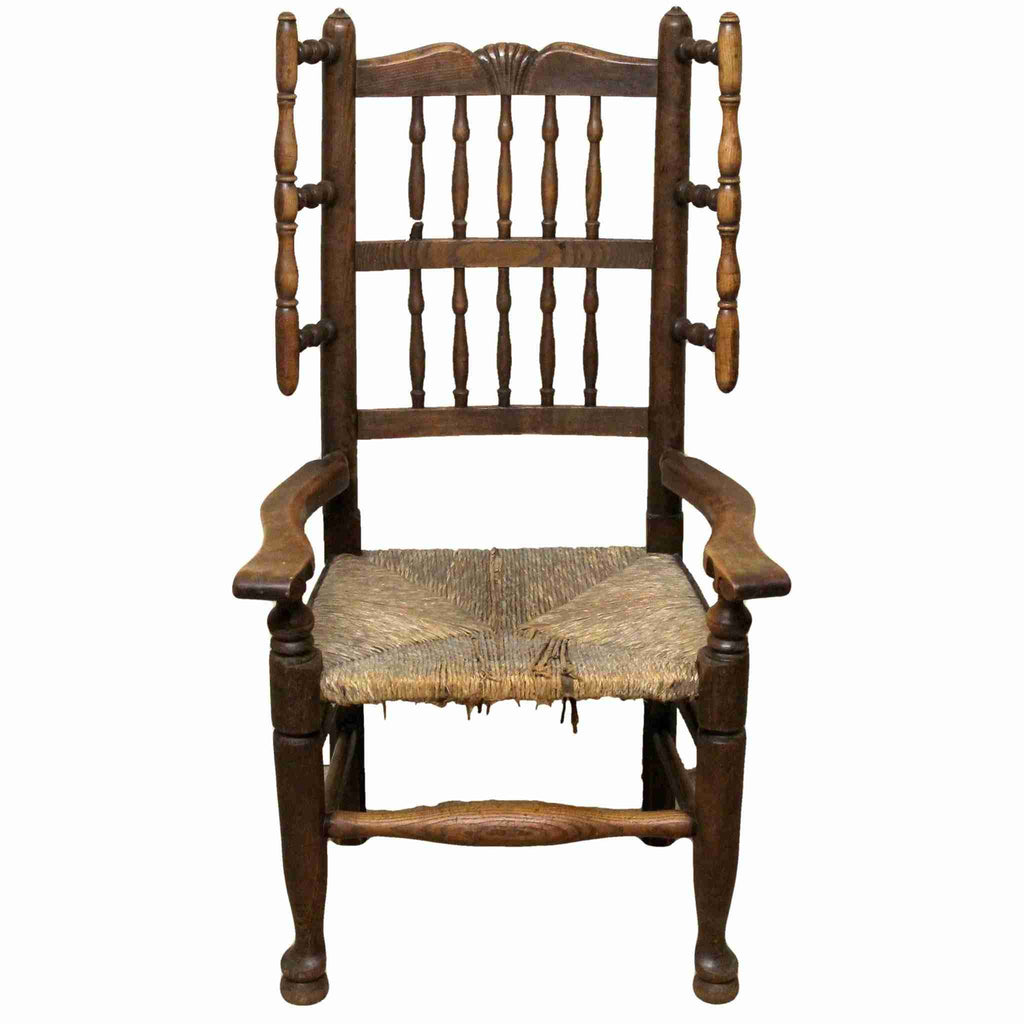 Victorian Antique Oak Spindle Back Armchair-Origin Antiques