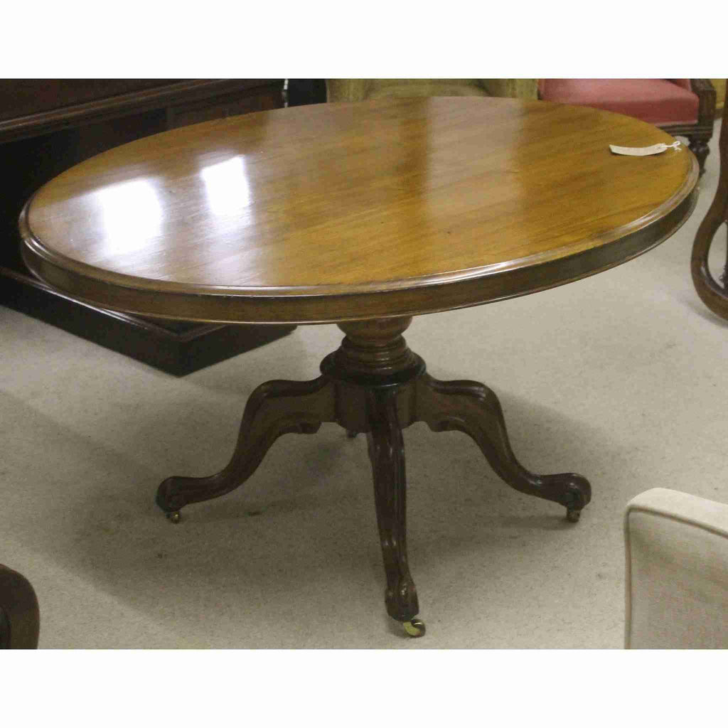 Victorian Antique Oval Tilt Top Dining Table-Origin Antiques
